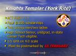 knights templar york rite