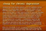 cbasp for chronic depression
