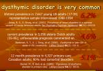 dysthymic disorder is very common