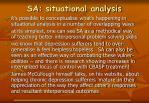 sa situational analysis