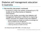 diabetes self management education in australia