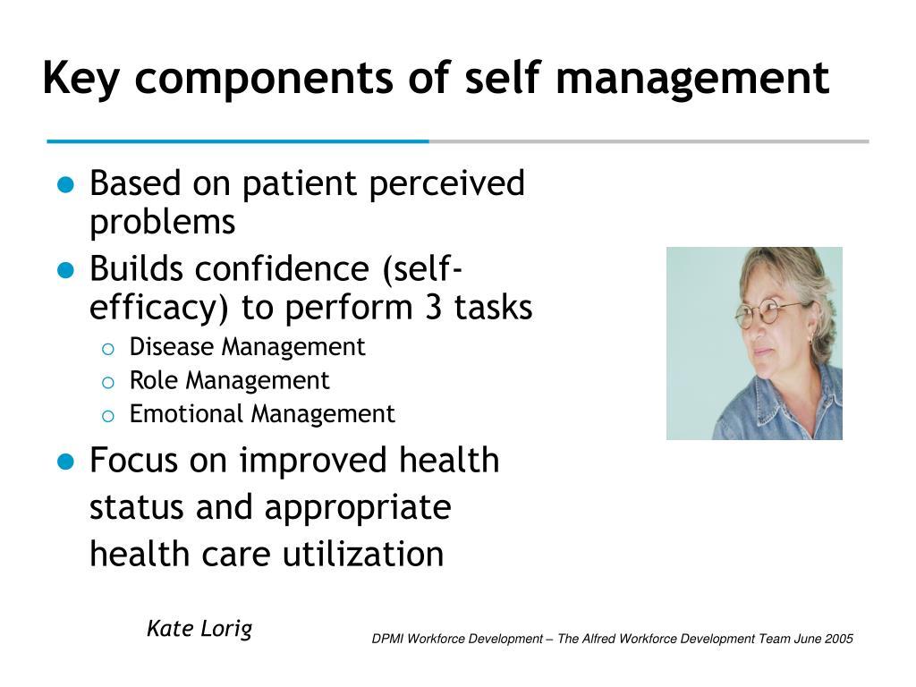 Key components of self management