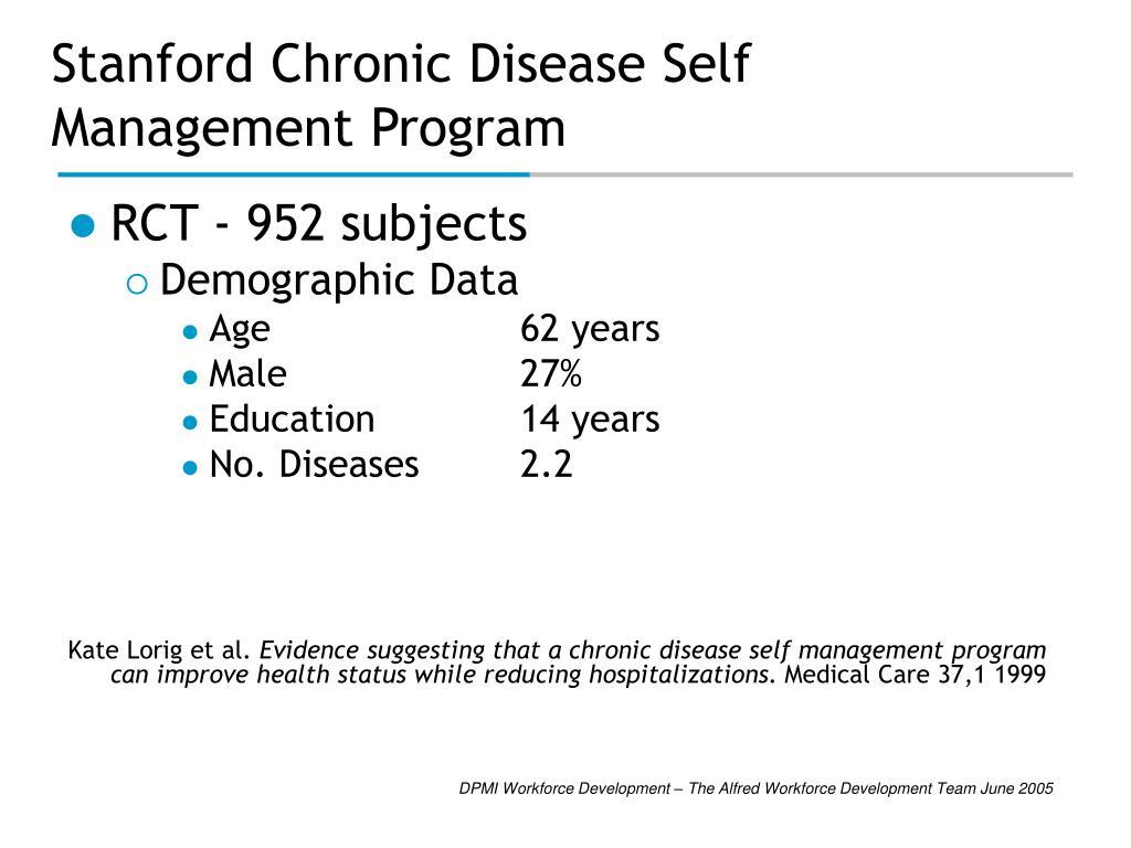 Stanford Chronic Disease Self Management Program