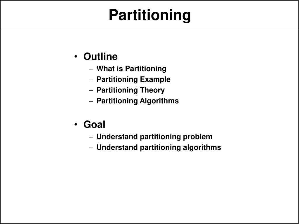 partitioning l.