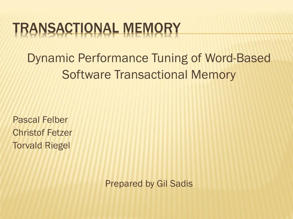 transactional memory l.