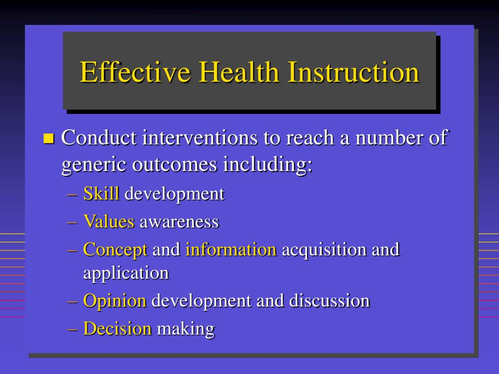 Effective Health Instruction