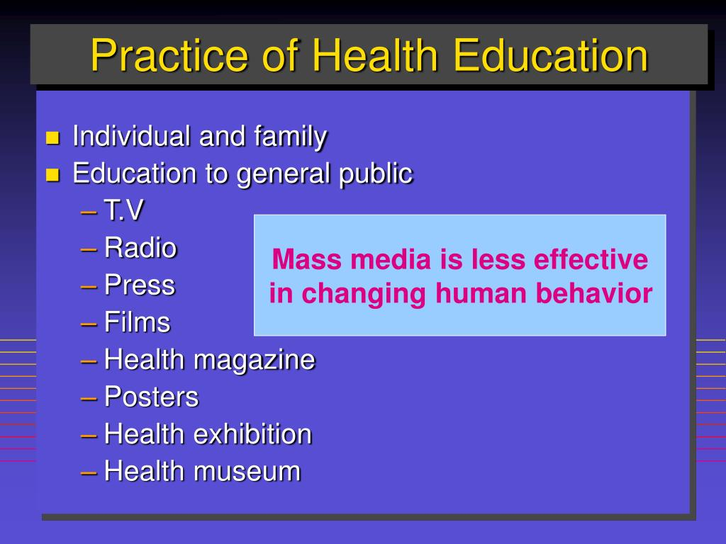 Practice of Health Education