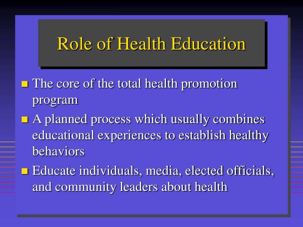 Role of Health Education