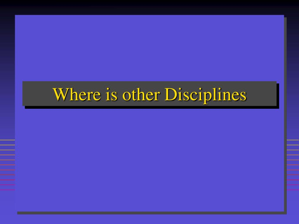 Where is other Disciplines