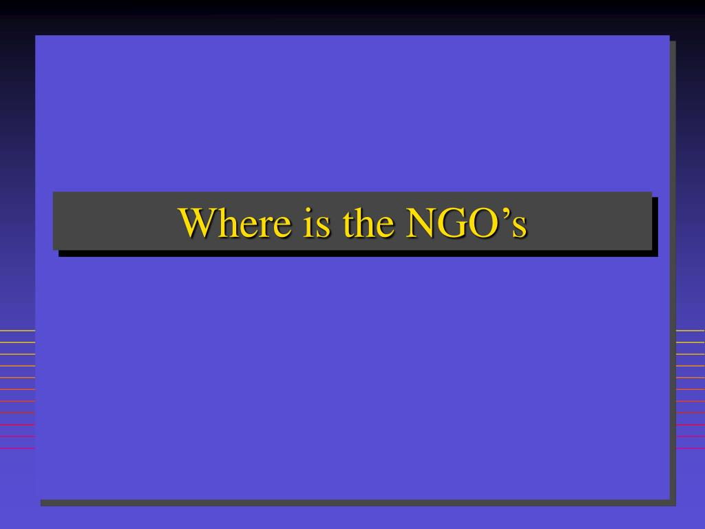 Where is the NGO's