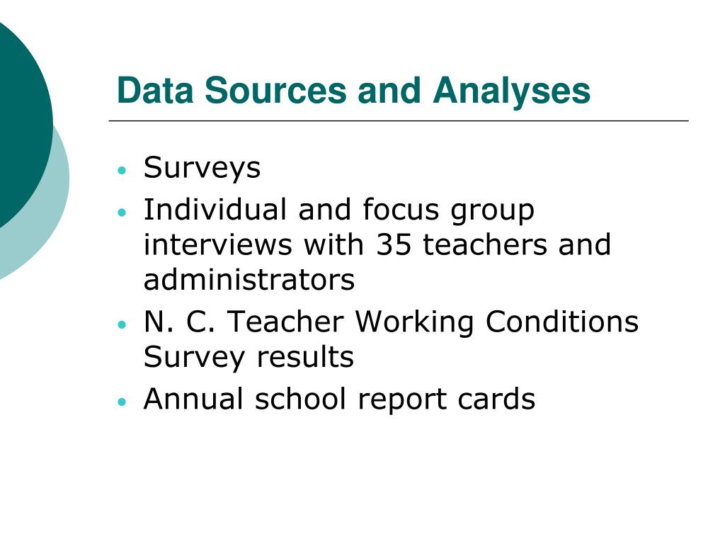 Data Sources and Analyses