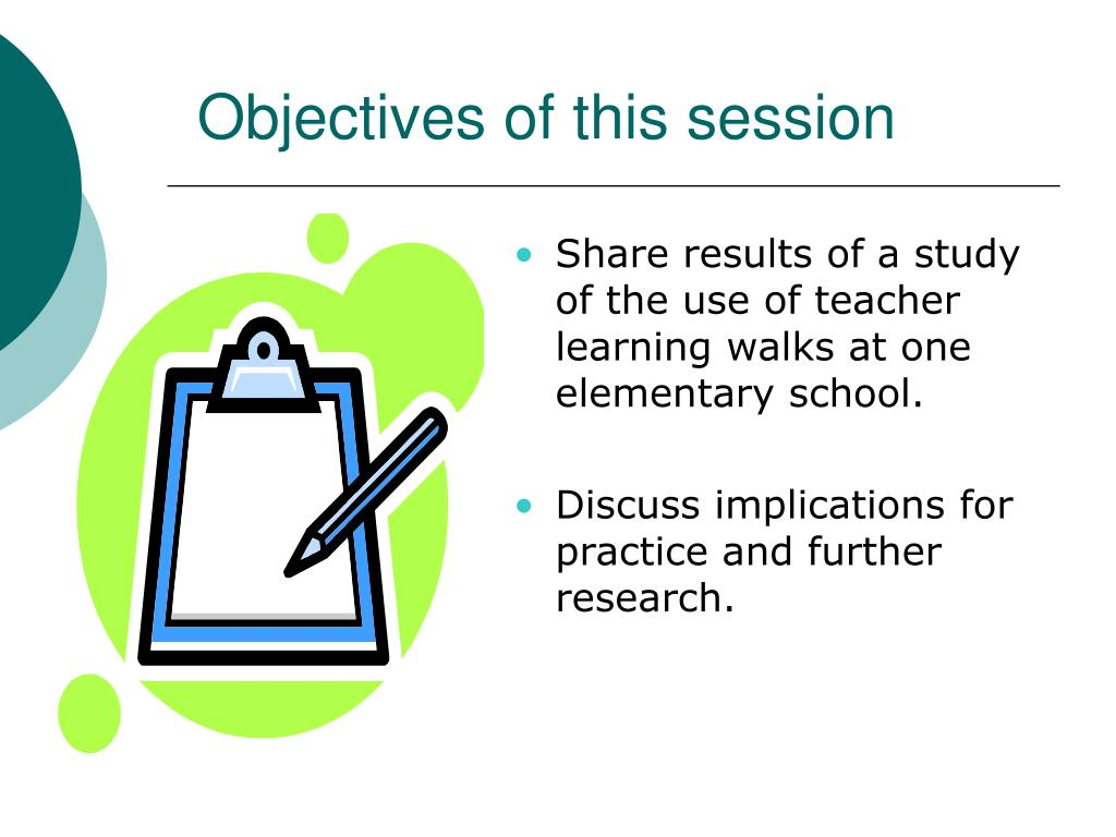 Share results of a study of the use of teacher learning walks at one elementary school.