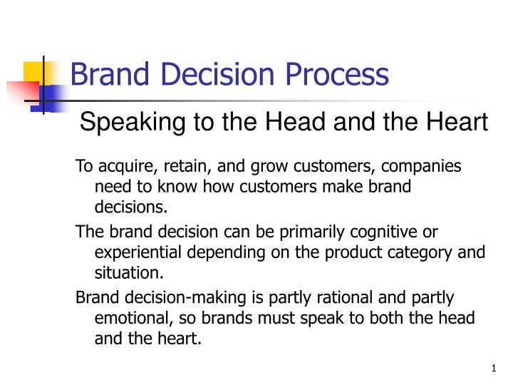 brand decision process n.