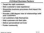 8 critical success factors