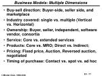 business models multiple dimensions