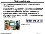 clicks and mortar
