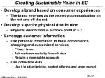 creating sustainable value in ec