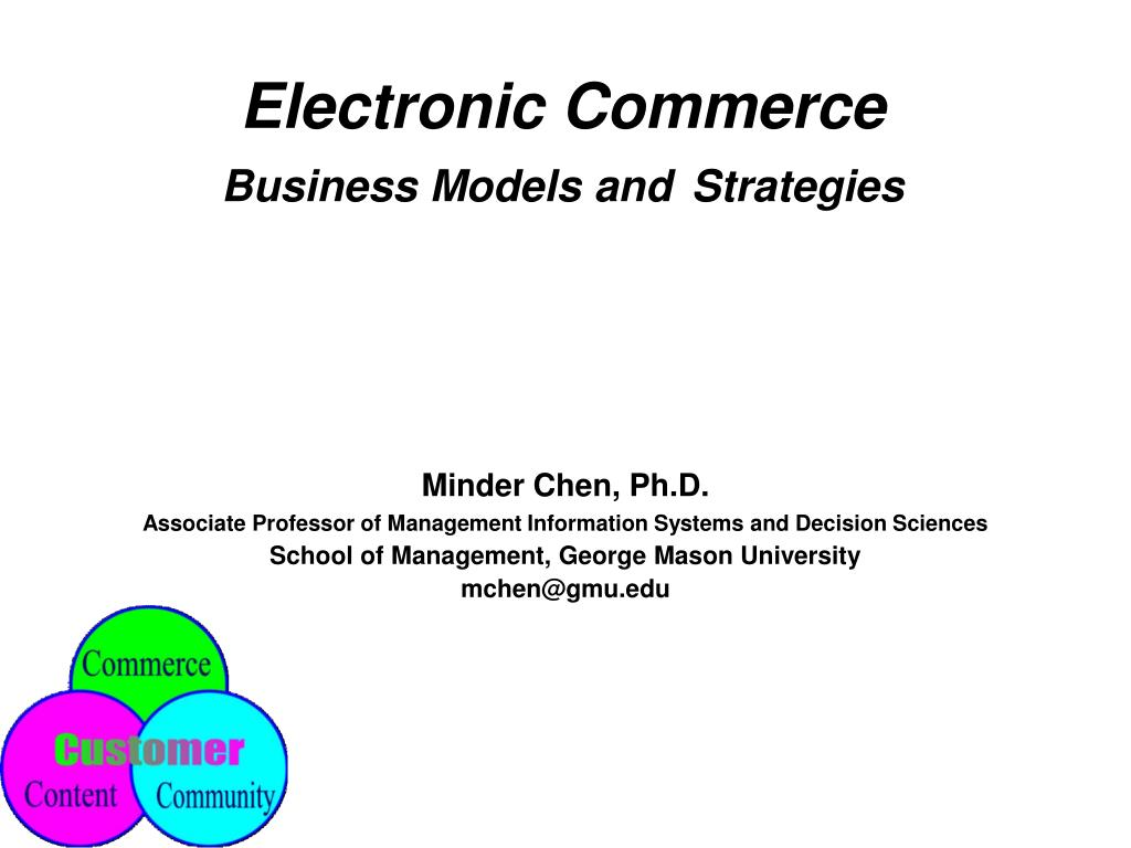 electronic commerce business models and strategies l.