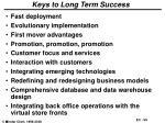 keys to long term success