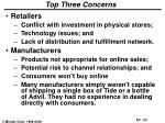 top three concerns