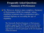 frequently asked questions summary of performance89