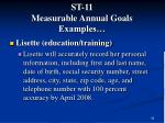 st 11 measurable annual goals examples