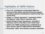 highlights of usps history