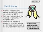 merit marks