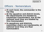 officers nomenclature