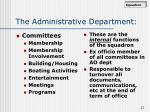 the administrative department