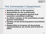 the commander s department