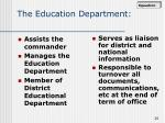 the education department