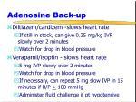 adenosine back up