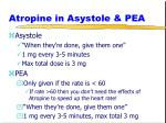 atropine in asystole pea