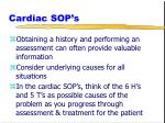 cardiac sop s