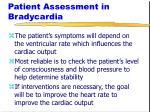 patient assessment in bradycardia