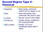 second degree type ii classical