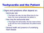 tachycardia and the patient
