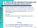 6 where do the standard concepts and standard predicates come from