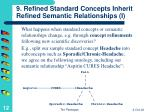 9 refined standard concepts inherit refined semantic relationships i