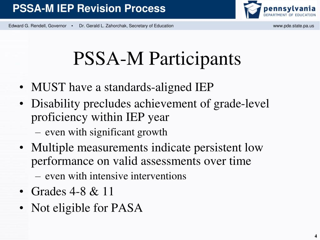 MUST have a standards-aligned IEP