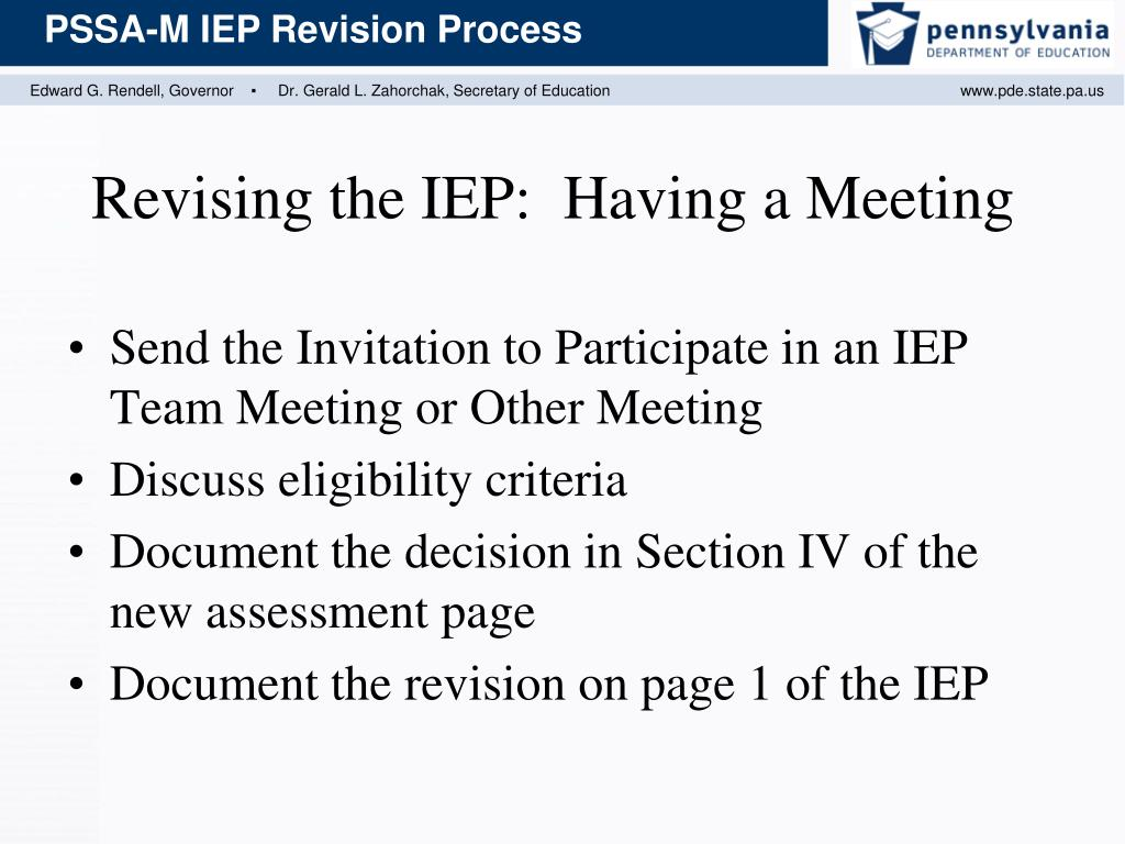 Send the Invitation to Participate in an IEP Team Meeting or Other Meeting