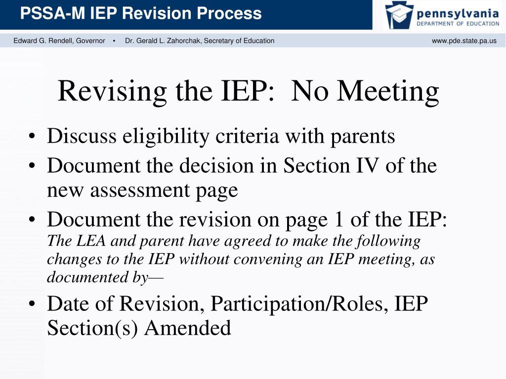 Discuss eligibility criteria with parents