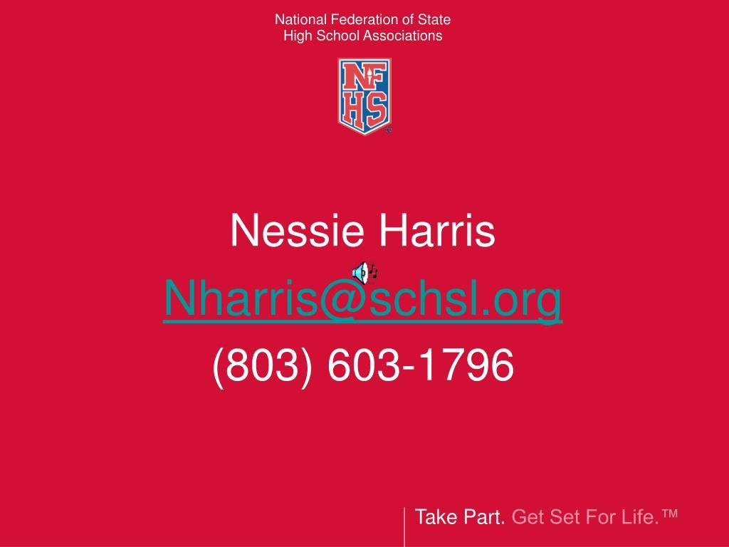 nessie harris nharris@schsl org 803 603 1796 l.