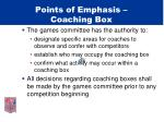 points of emphasis coaching box