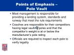 points of emphasis pole vault