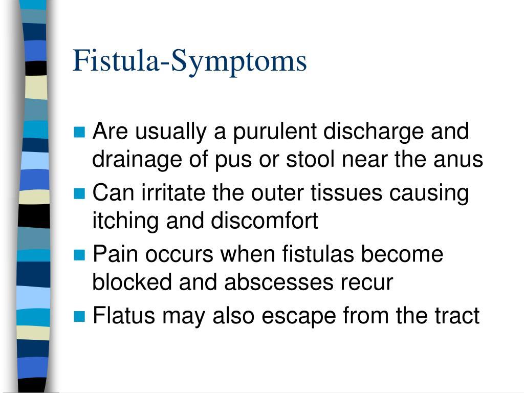 Fistula-Symptoms