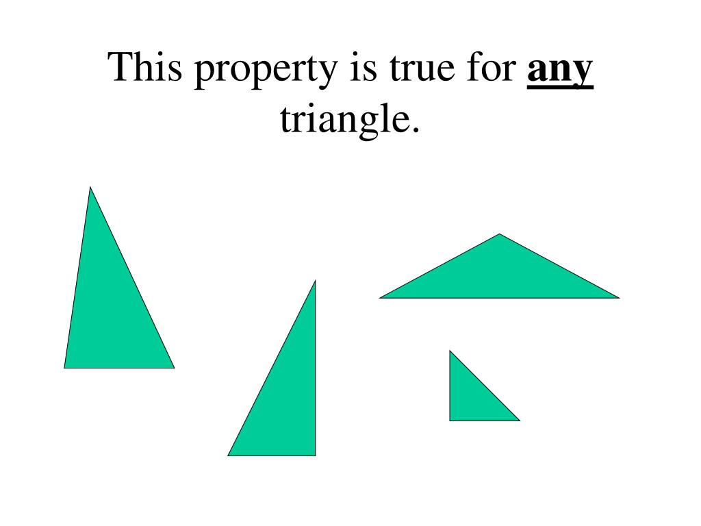 This property is true for