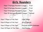 girls rounders