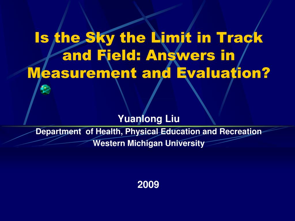 is the sky the limit in track and field answers in measurement and evaluation l.